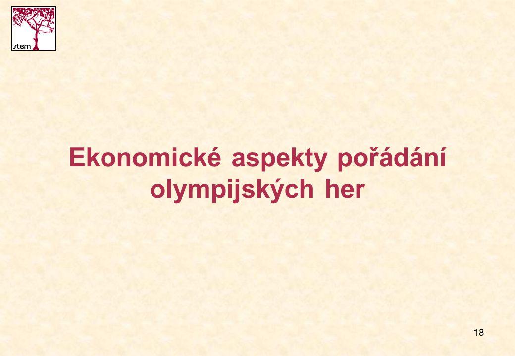 18 Ekonomické aspekty pořádání olympijských her