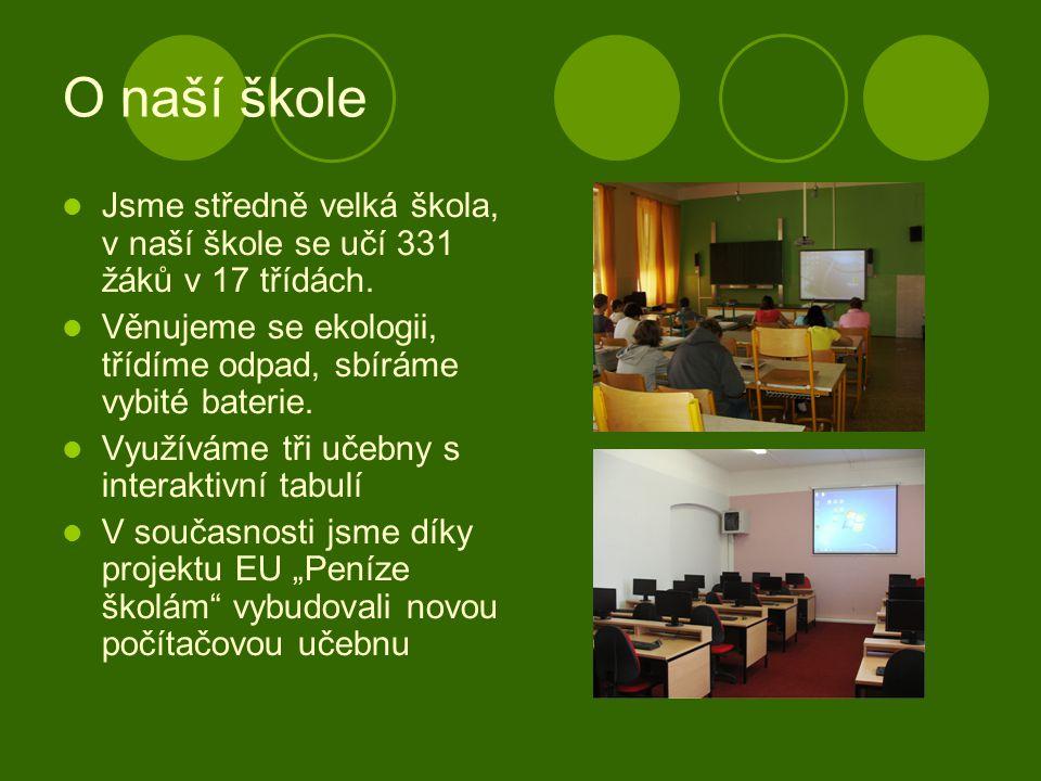 O naší škole Jsme středně velká škola, v naší škole se učí 331 žáků v 17 třídách.