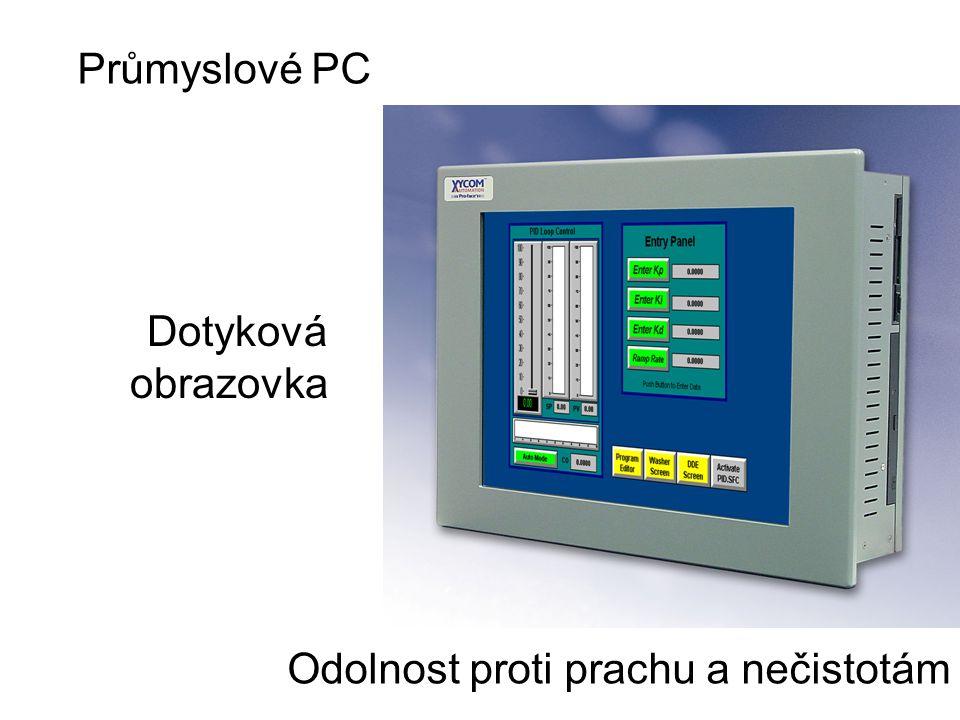 Dotyková obrazovka Odolnost proti prachu a nečistotám Průmyslové PC