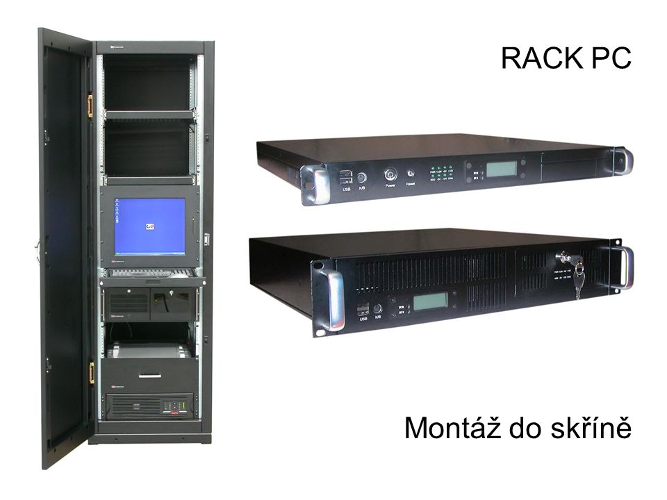 Montáž do skříně RACK PC