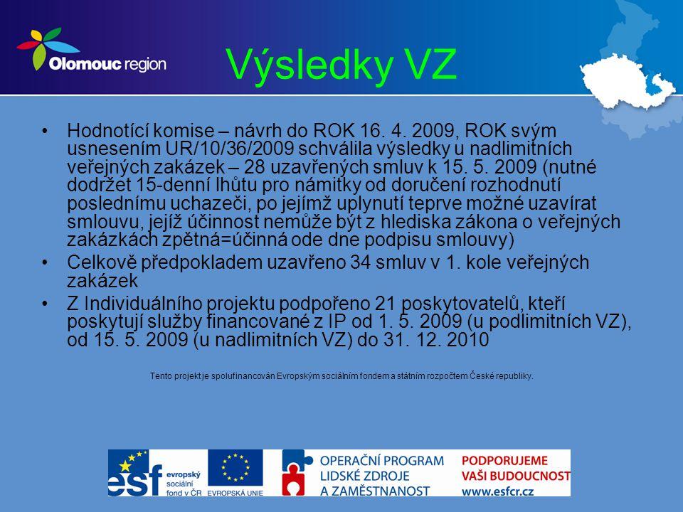 Výsledky VZ Hodnotící komise – návrh do ROK 16. 4.