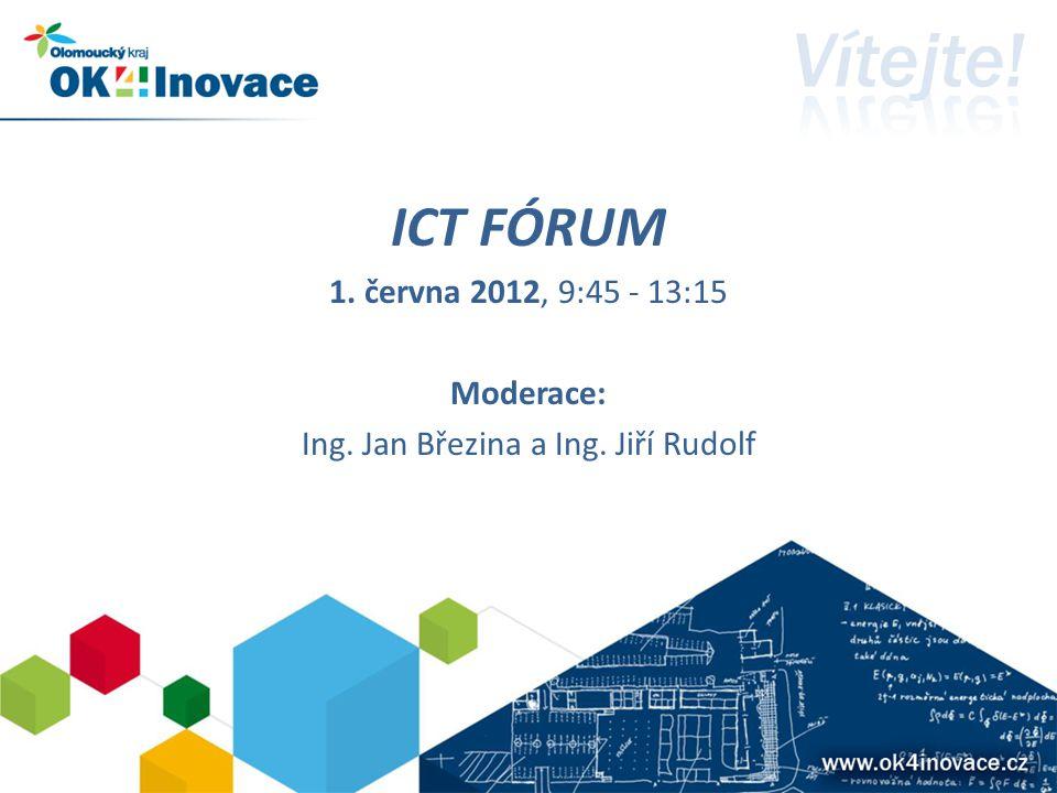 ICT FÓRUM 1. června 2012, 9:45 - 13:15 Moderace: Ing. Jan Březina a Ing. Jiří Rudolf