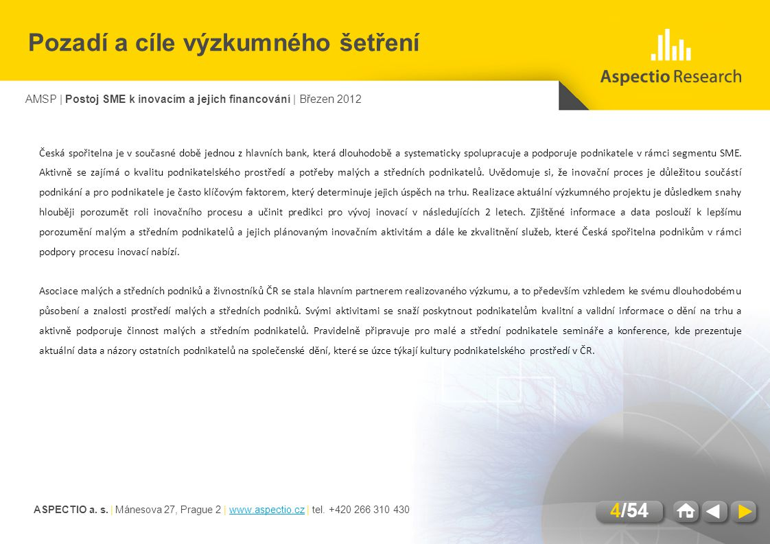 ASPECTIO a. s. | Mánesova 27, Prague 2 | www.aspectio.cz | tel.