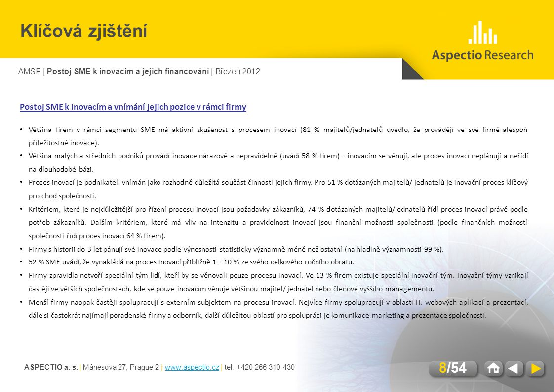 ASPECTIO a.s. | Mánesova 27, Prague 2 | www.aspectio.cz | tel.