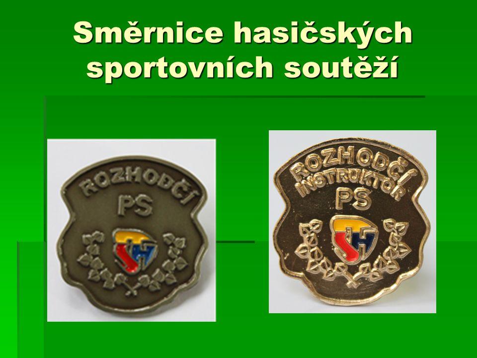 Směrnice hasičských sportovních soutěží