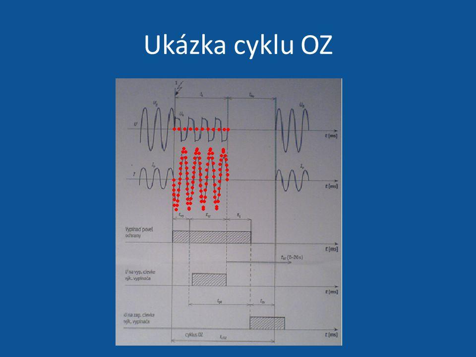 Nastavení beznapěťové pauzy t pt na časovém relé automatiky OZ t pt = t vv + t bp – t zv t vv - vypínací čas výkonového vypínače t bp - čas beznapěťové pauzy t zv - zapínací čas výkonového vypínače