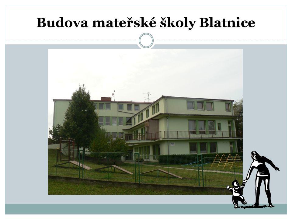 Budova mateřské školy Blatnice