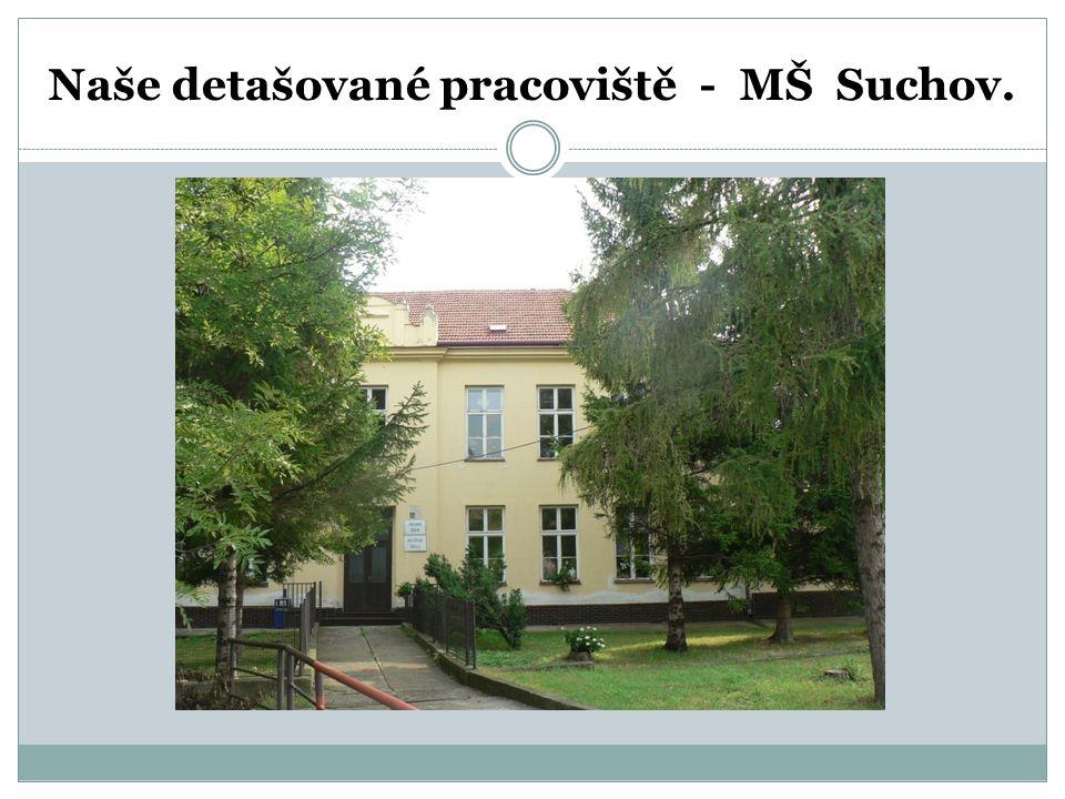 Naše detašované pracoviště - MŠ Suchov.