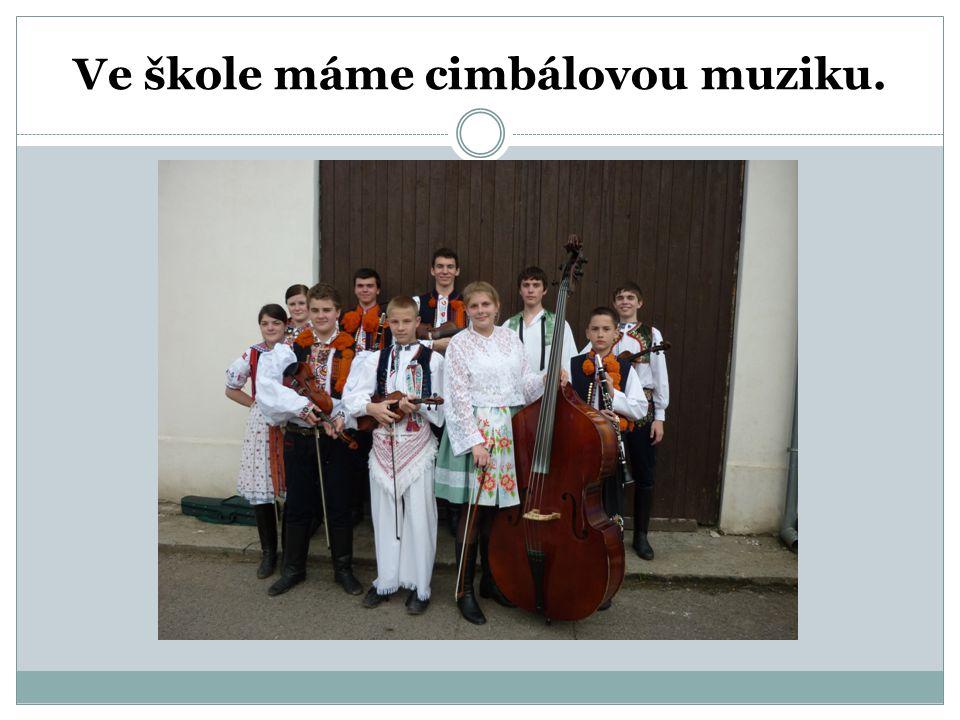 Ve škole máme cimbálovou muziku.