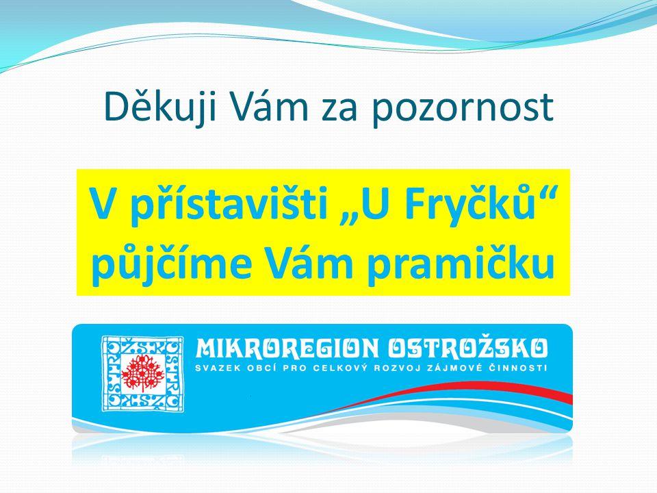 """Děkuji Vám za pozornost Jana Bujáková V přístavišti """"U Fryčků půjčíme Vám pramičku"""