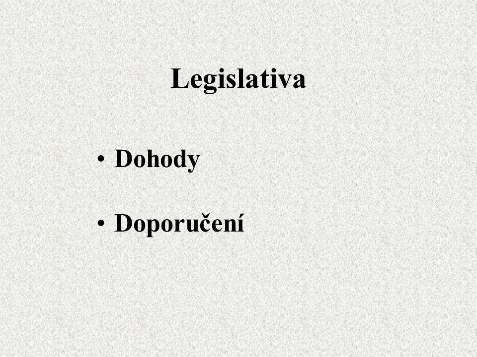 Legislativa Dohody Doporučení