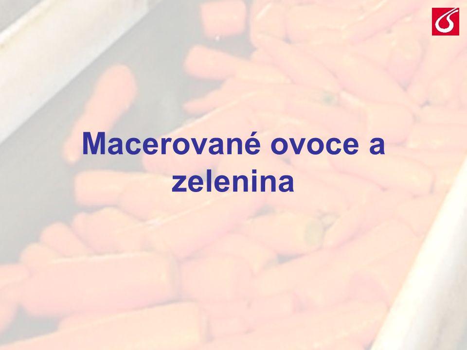 VŠCHT Praha - TZOZ 201 Macerované ovoce a zelenina