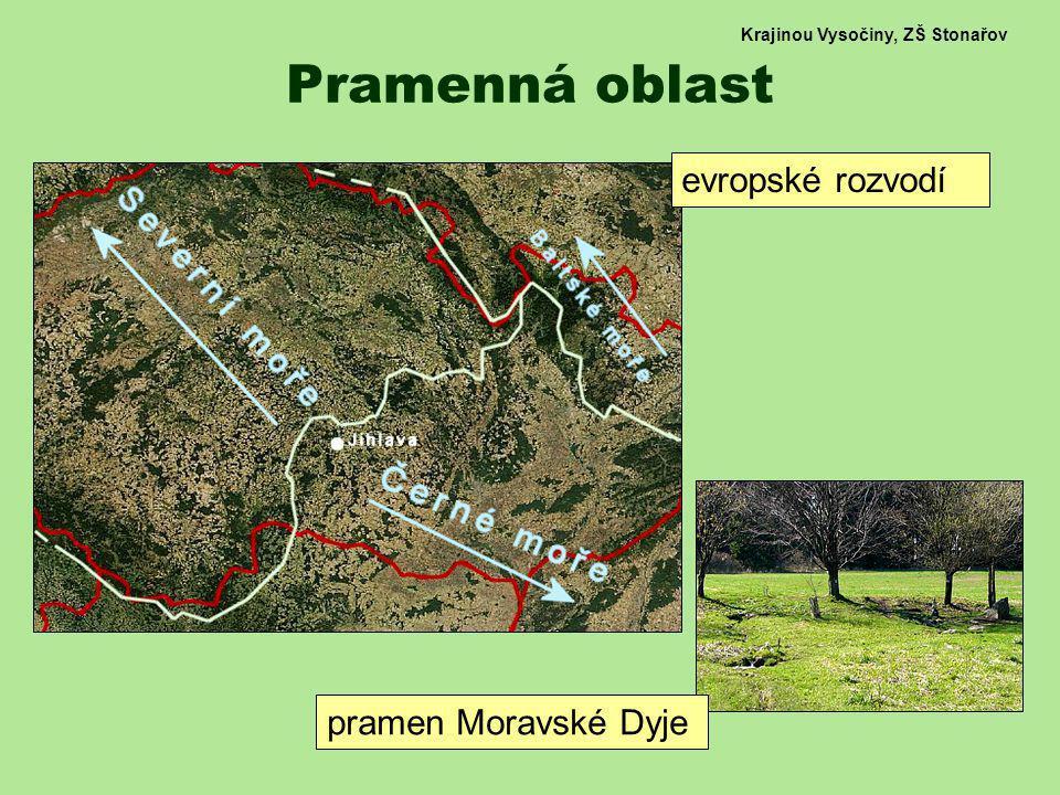 Krajinou Vysočiny, ZŠ Stonařov Lesy, pole, louky střídání menších lesů a zemědělské krajiny remízky, stromořadí, zarostlé meze apod.