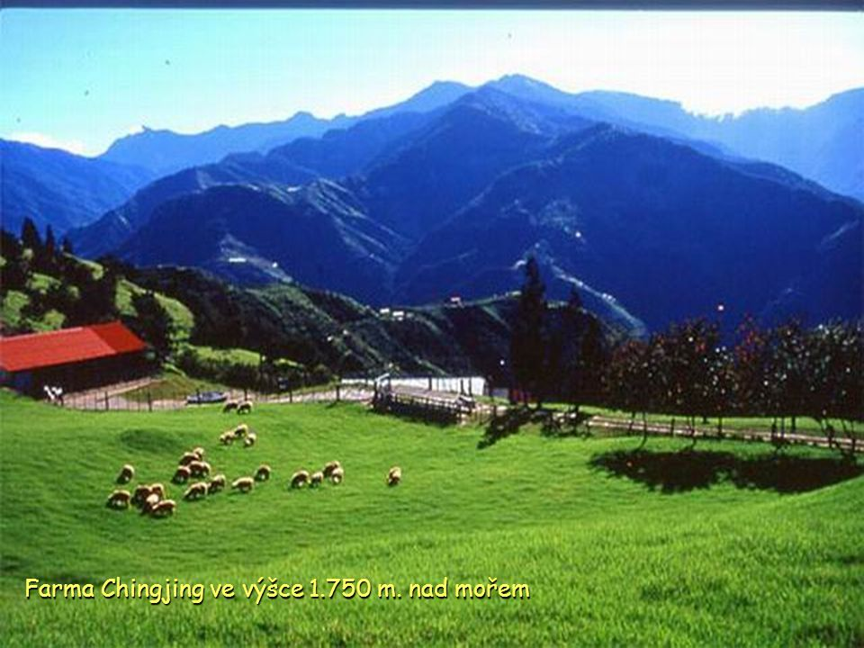 Dálnice u hory Mt. Hehuan ve výšce 3.275m. nad mořem