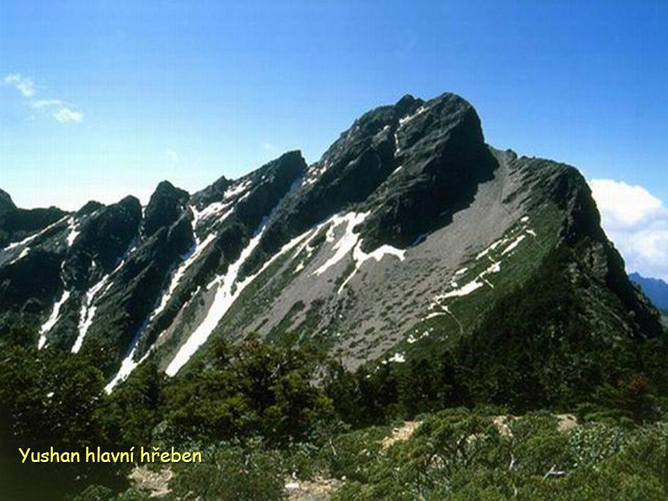 Yushan 3.952 m. nejvyšší hora země