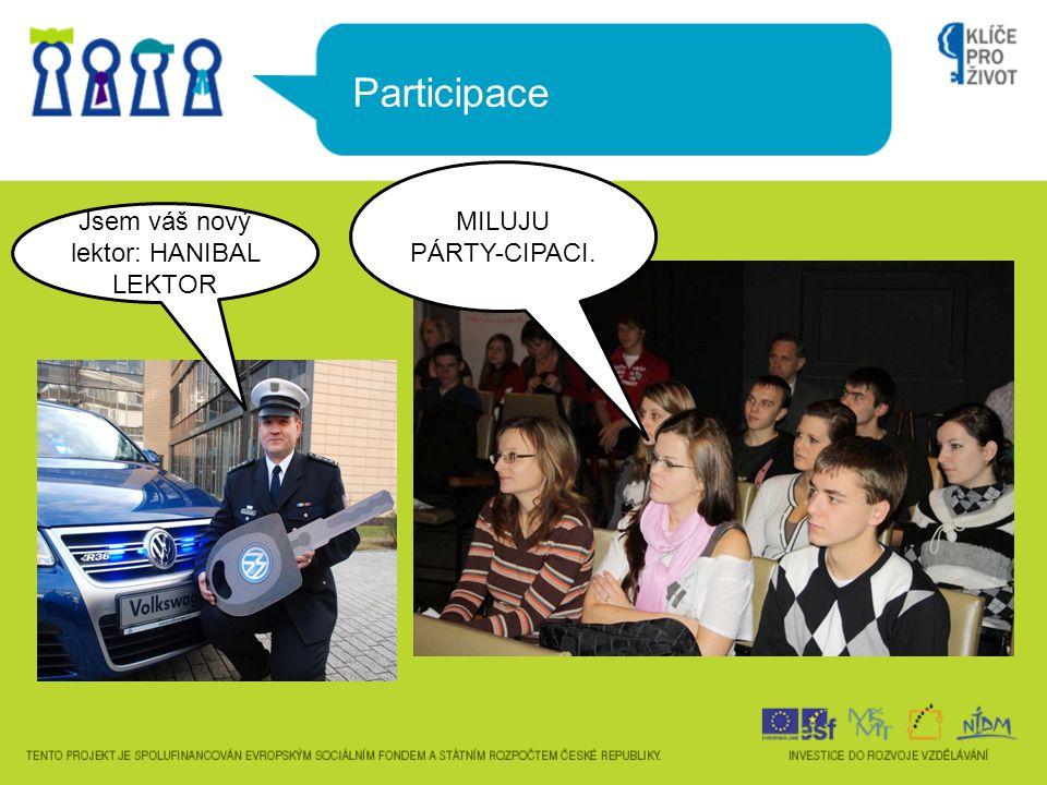 Participace MILUJU PÁRTY-CIPACI. Jsem váš nový lektor: HANIBAL LEKTOR