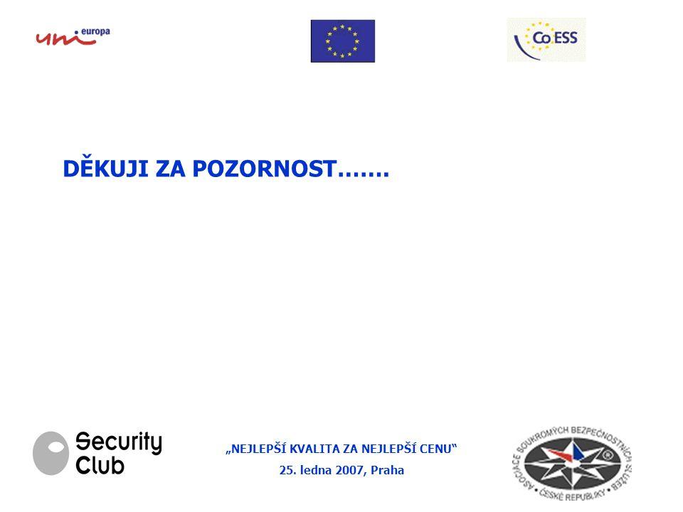 """""""NEJLEPŠÍ KVALITA ZA NEJLEPŠÍ CENU 25. ledna 2007, Praha DĚKUJI ZA POZORNOST……."""