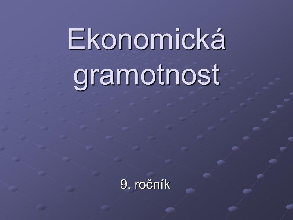 Ekonomická gramotnost 9. ročník