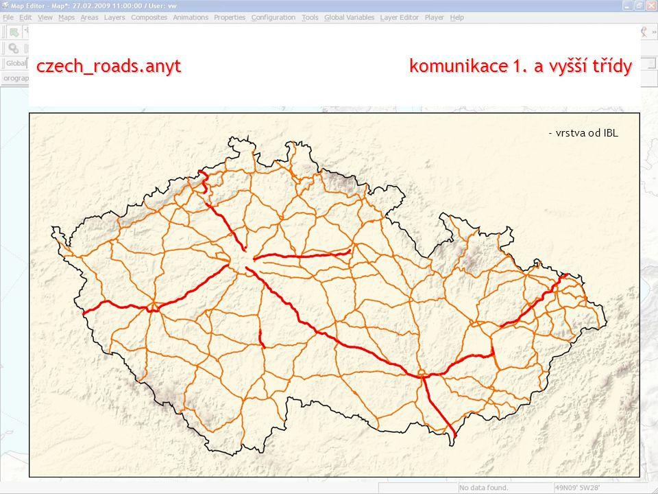 czech_roads.anyt komunikace 1. a vyšší třídy - vrstva od IBL