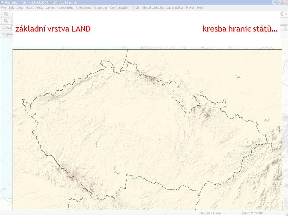 základní vrstva LAND kresba hranic států…