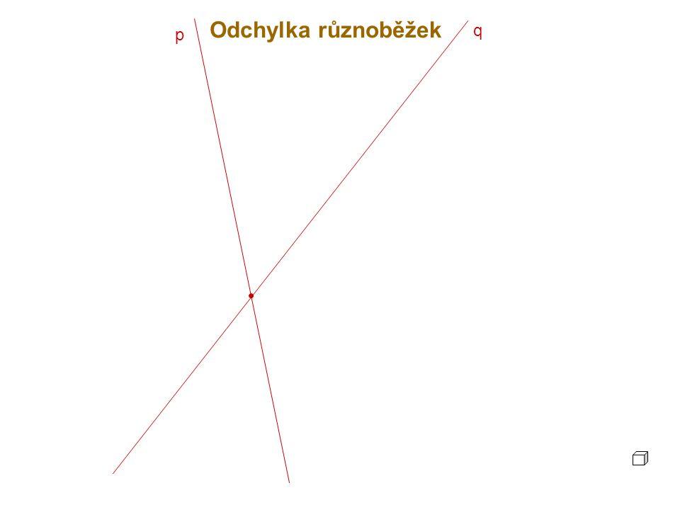 p q Odchylka různoběžek