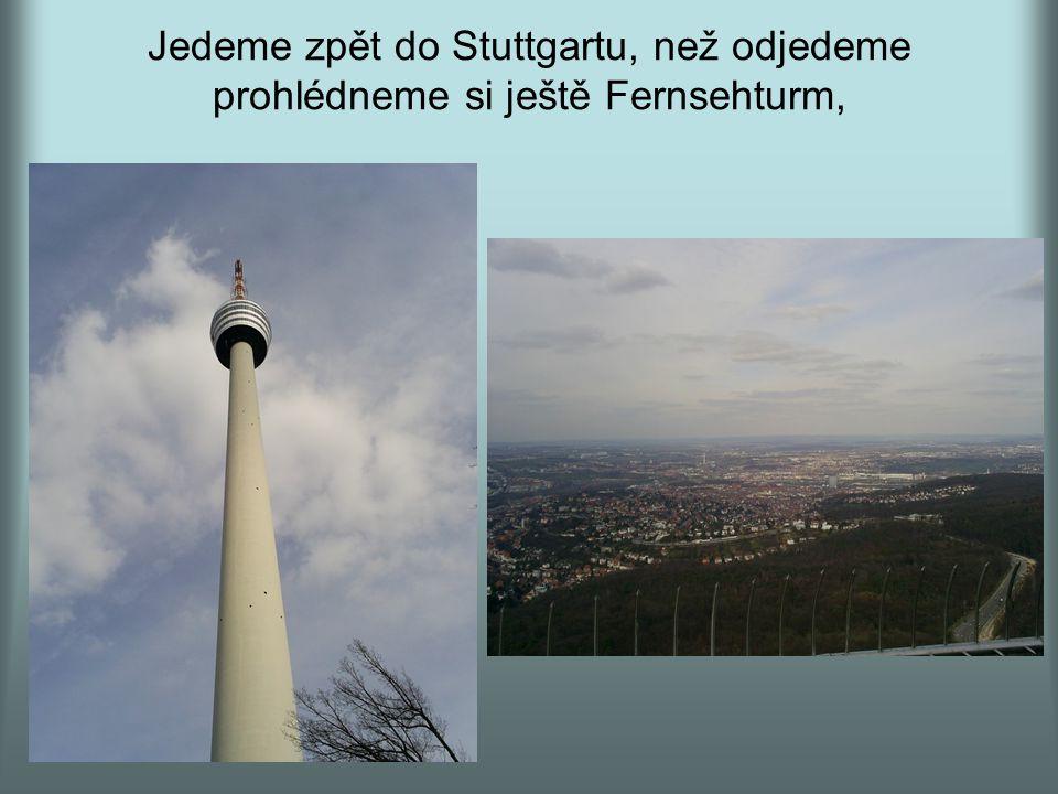 Jedeme zpět do Stuttgartu, než odjedeme prohlédneme si ještě Fernsehturm,