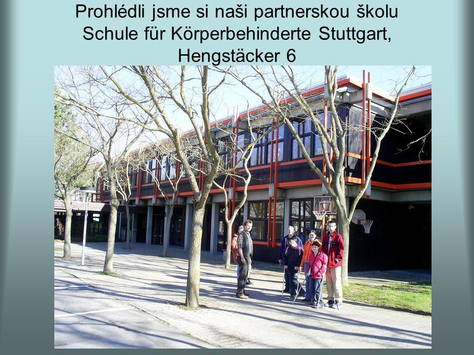 Prohlédli jsme si naši partnerskou školu Schule für Körperbehinderte Stuttgart, Hengstäcker 6