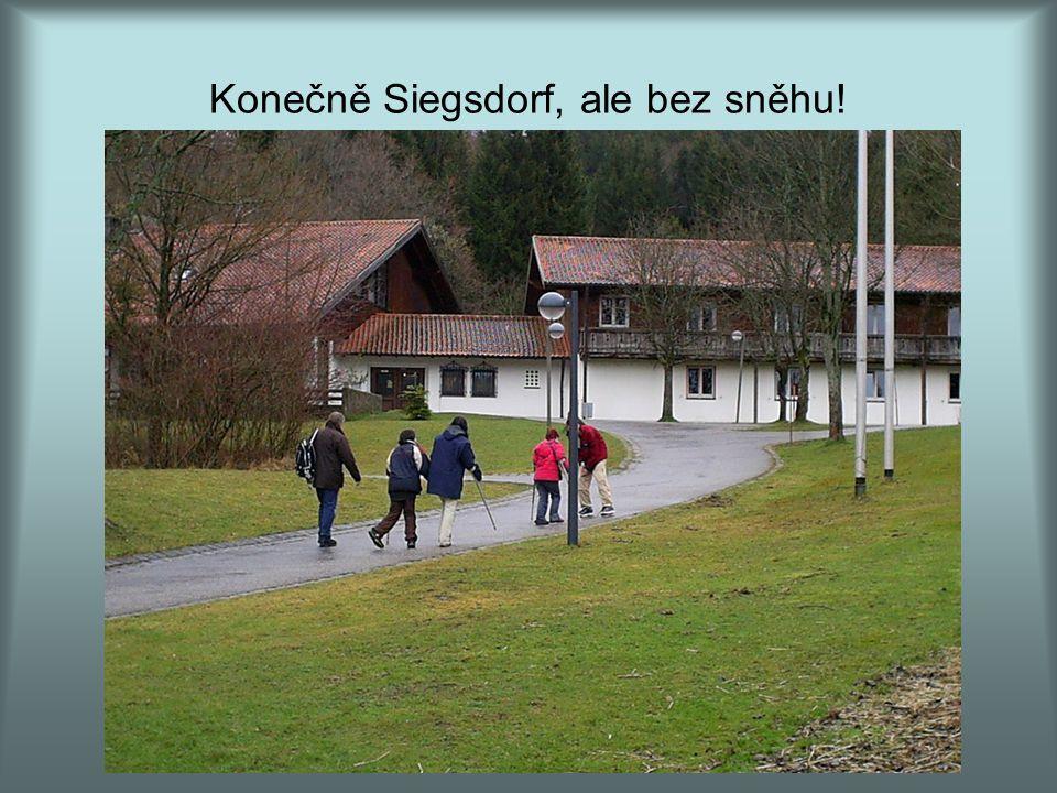 Konečně Siegsdorf, ale bez sněhu!