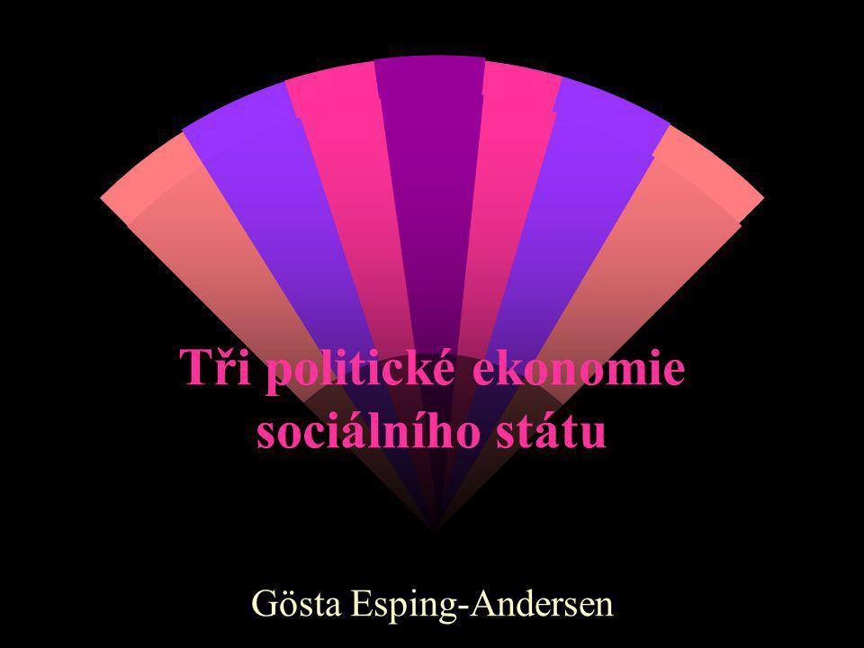 Tři politické ekonomie sociálního státu Gösta Esping-Andersen