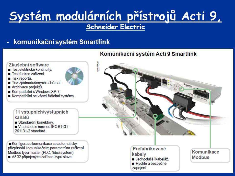 Systém modulárních přístrojů Acti 9, Schneider Electric -komunikační systém Smartlink