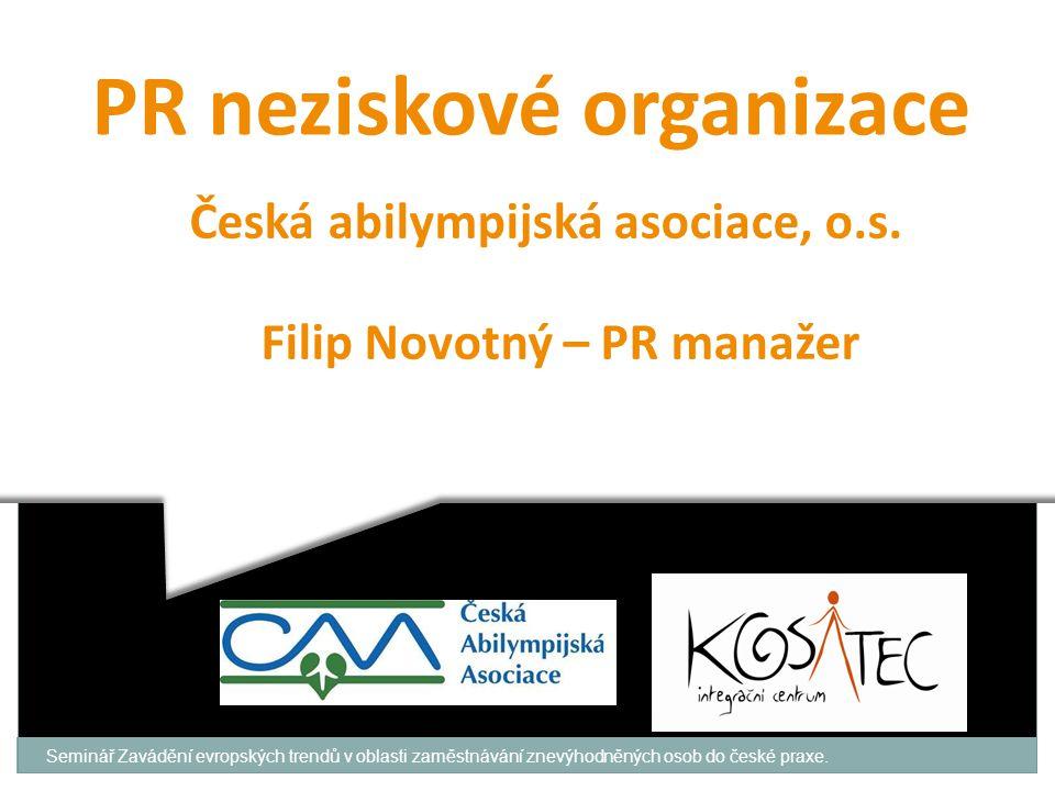 PR neziskové organizace Česká abilympijská asociace, o.s.
