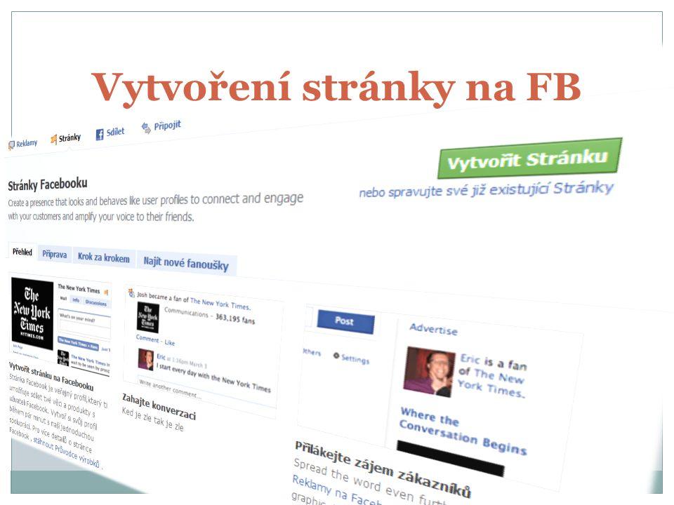 Vytvoření stránky na FB
