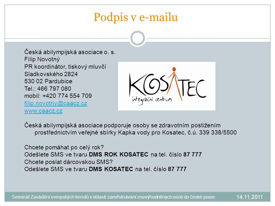 Podpis v e-mailu Česká abilympijská asociace o. s.