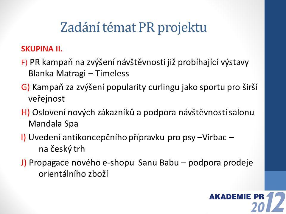 Odevzdání PPT projektu + prezentace Celkový očekávaný rozsah projektu – Powerpoint (do 20 snímků).
