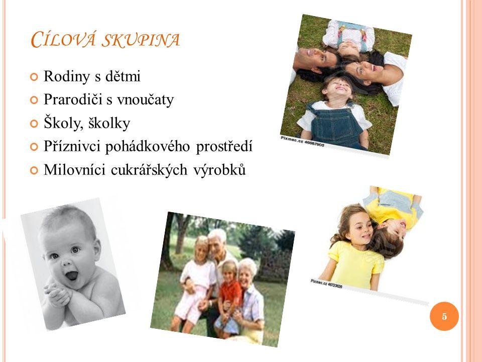 C ÍLOVÁ SKUPINA Rodiny s dětmi Prarodiči s vnoučaty Školy, školky Příznivci pohádkového prostředí Milovníci cukrářských výrobků 5