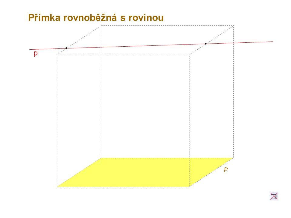 p Přímka rovnoběžná s rovinou 