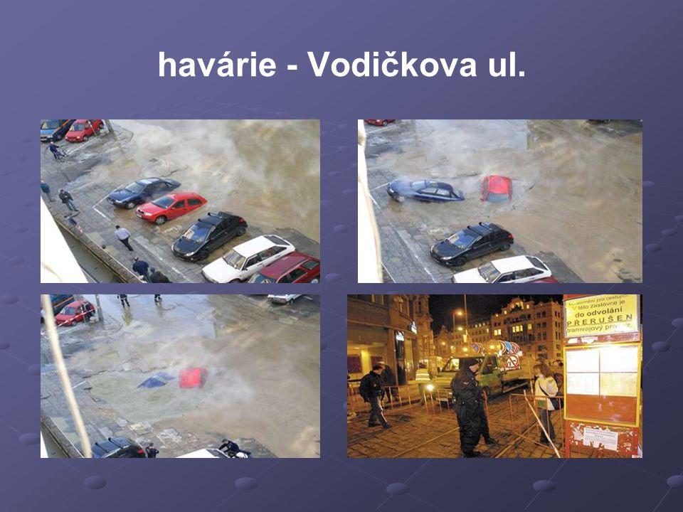 havárie - Vodičkova ul.