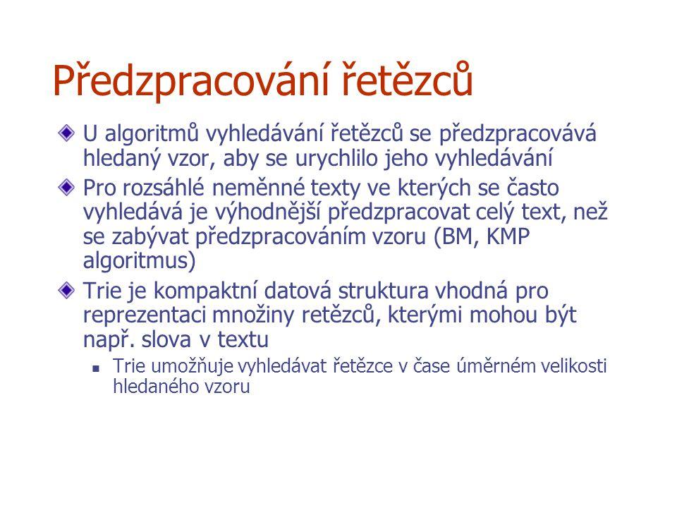 © 2004 Goodrich, Tamassia j 0 1 2 3 4 5 0 1 2 3 4 i Xi A B C YjBBACD 0 0 00000 0 0 0 10001 1211 112 1 22 1122 3 B B A C D B A SCS (obrácené pořadí): SCS (správné pořadí ):A B D C A B