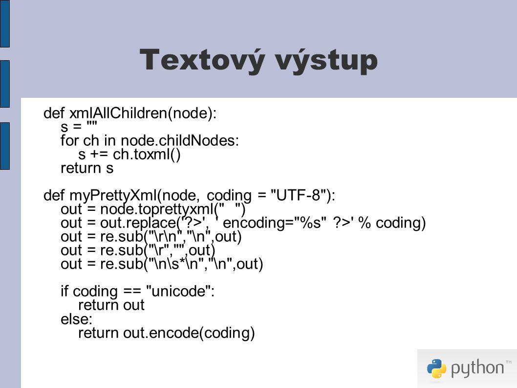 Praktická ukázka Modifikace XML dokumentu