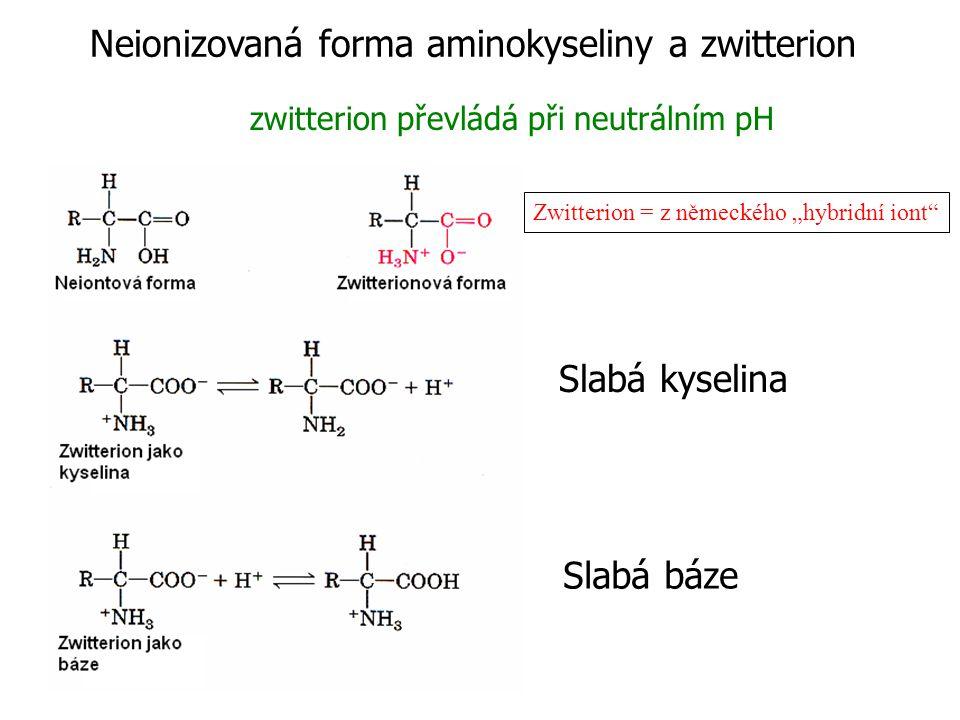 Jednoduchá monoamino monokarboxylová  -aminokyselina je diprotická kyselina (poskytuje proton) když je plně protonizovaná.