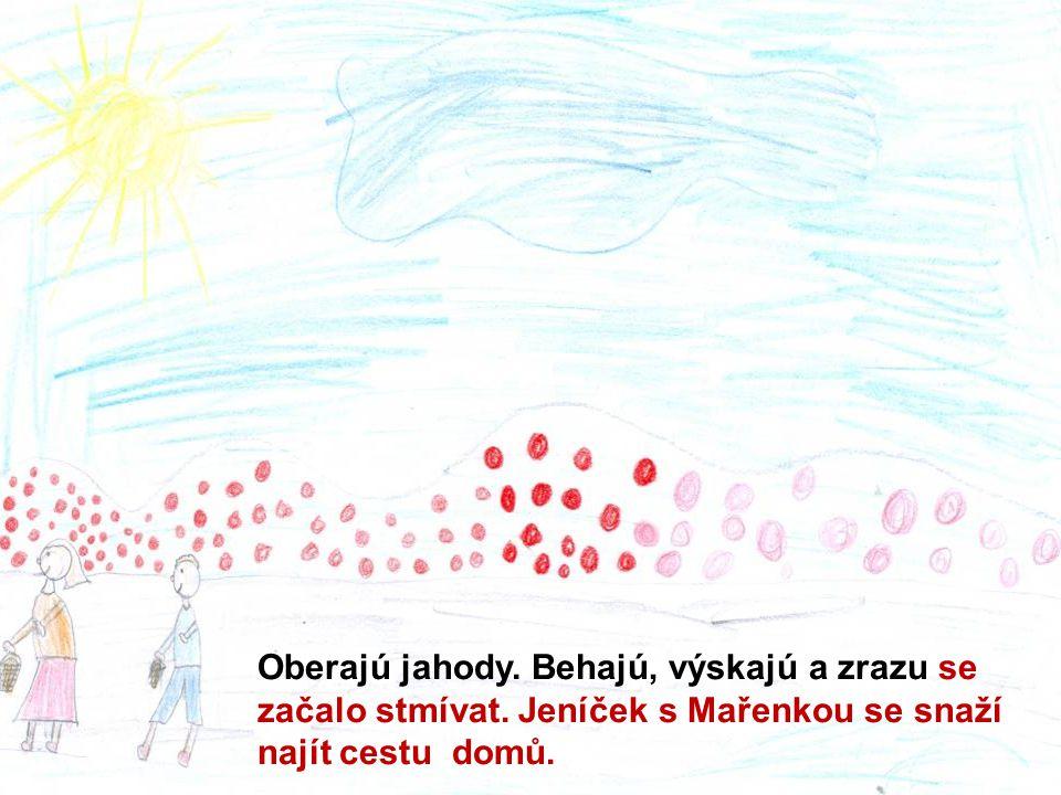Janko nepriberal. Zlá ježibaba nakázala Marienke, aby Janíčka povozila na čerstvom vzduchu.