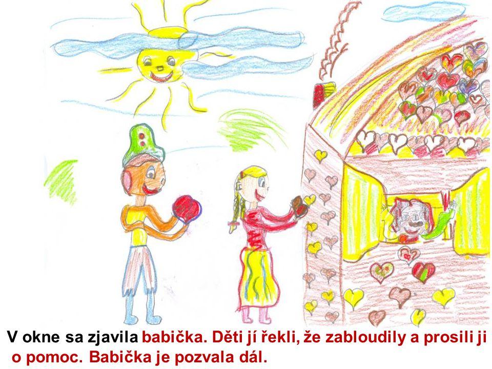 V izbe ich pohostila a postlala im postieľky.Janko s Marienkou byli rádi, že mají kde přespat.