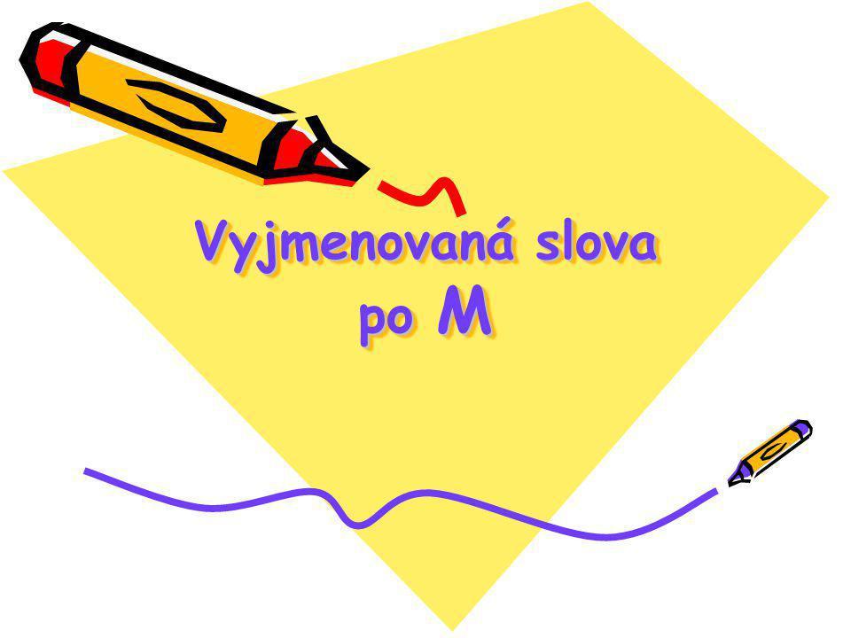 Vyjmenovaná slova po M Vyjmenovaná slova po M
