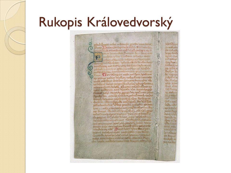 Rukopis Královedvorský