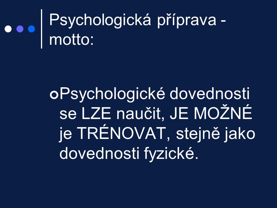Úzkost a aktivace aktivace – nespecifická reakce na zátěž úzkost – negativní interpretace !!.