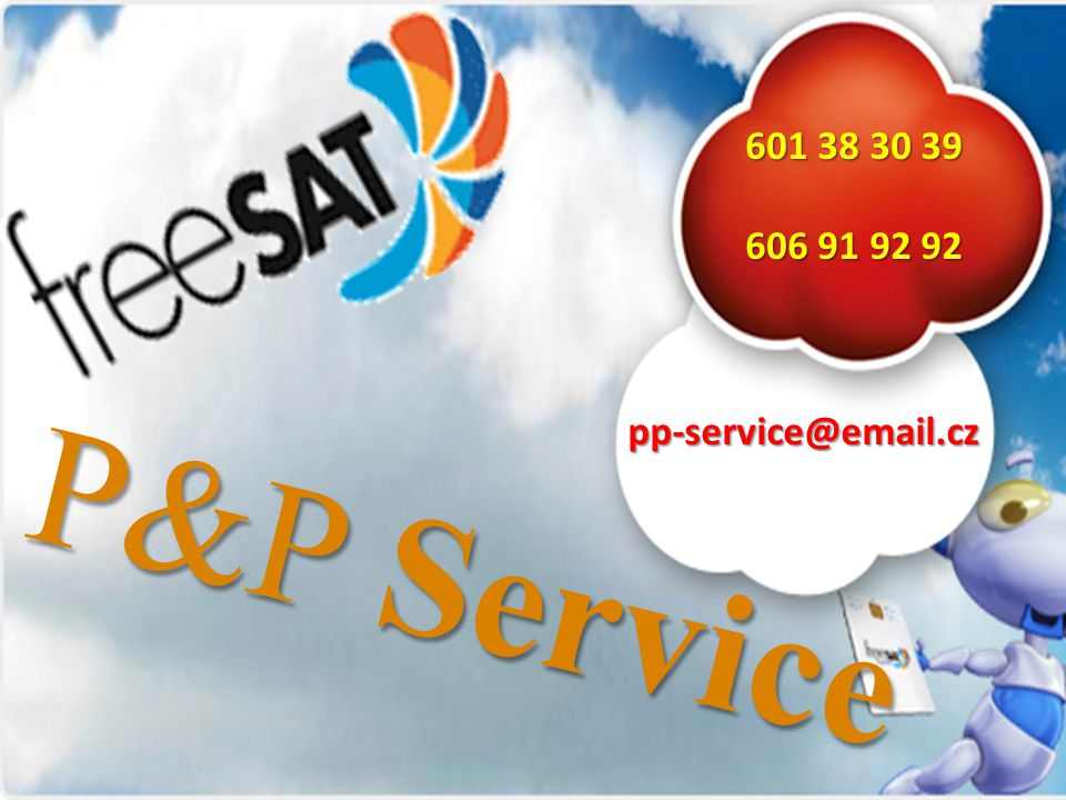 601 38 30 39 606 91 92 92 pp-service@email.cz P&P Service