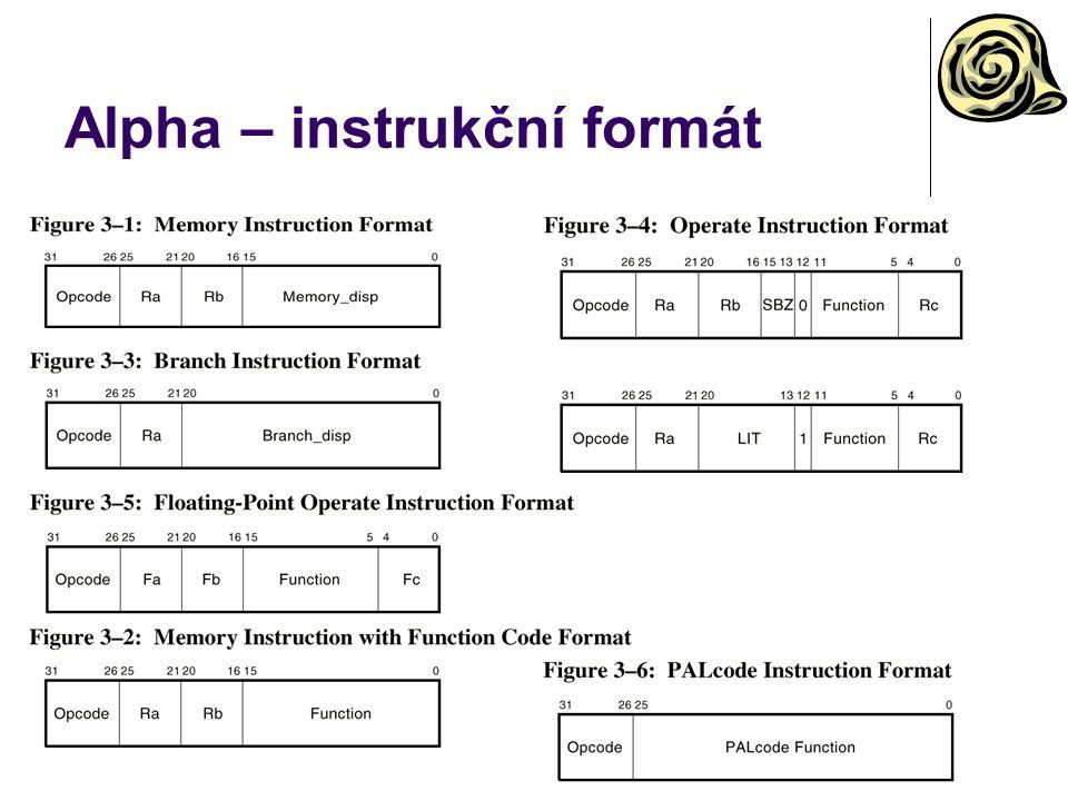 Alpha – instrukční formát