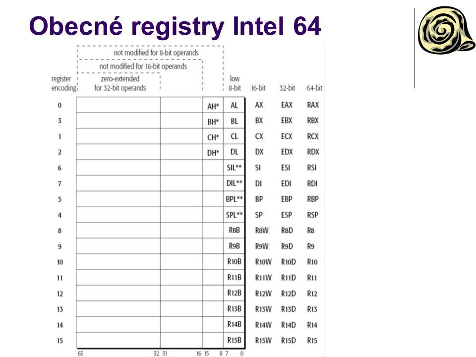 Obecné registry Intel 64