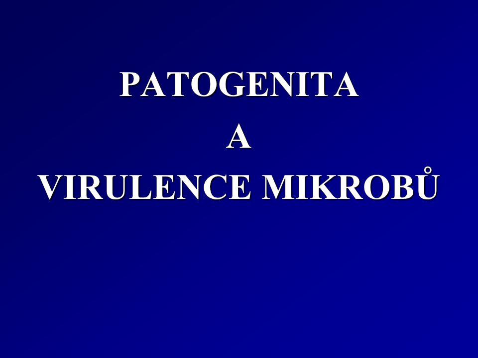 PATOGENITAA VIRULENCE MIKROBŮ