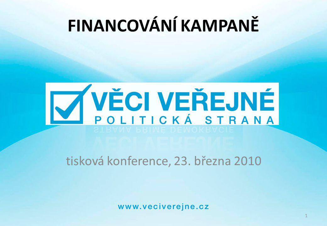 2 Politická strana VĚCI VEŘEJNÉ vznik: 22.